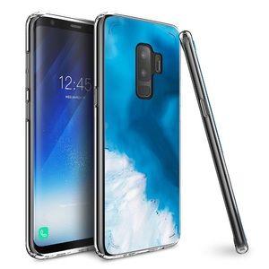 Accessories - Galaxy S9 Plus Case Aqua Marble Geode Design